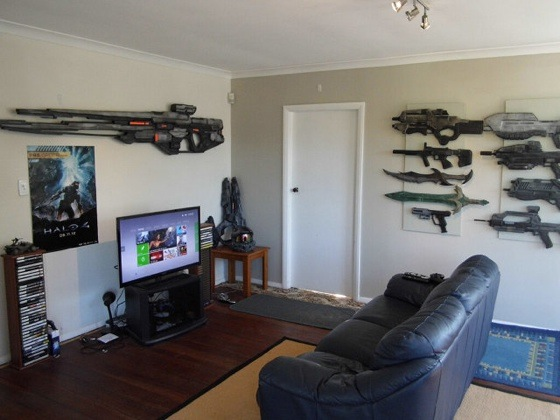 Gun Prop Game Room