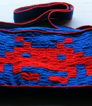 Space Invaders Crochet Bag