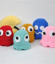 Pacman and Ghosts Crochet