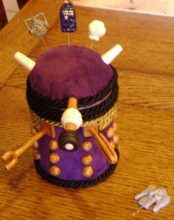 Fuzzy Dalek Sewing Case