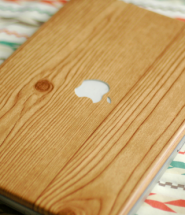 Woodgrain Laptop