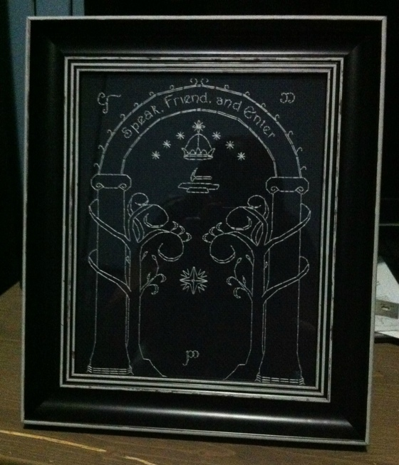 Lord of the Rings Glow in the Dark Cross Stitch