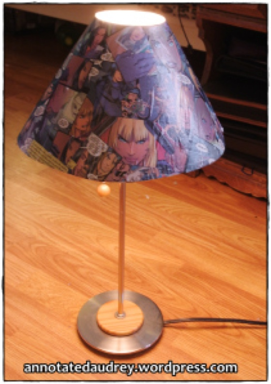 DIY Comic Book Lampshade