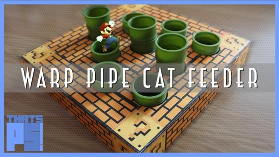 Warp Pipe Cat Feeder